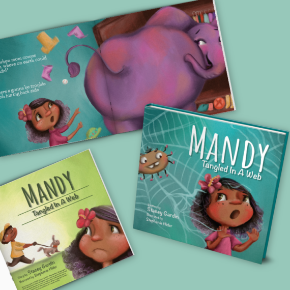 Mandy | Tangled in a Web | Children's Book about a girl that learns how quickly you can get tangled in a web of lies.